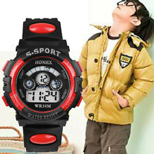 Waterproof Watch Digital LED Children Boy's Quartz Alarm Date Sports Wrist Watch