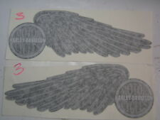 FLH Gas Tank Decals Harley Black and Silver with one 3M Felt Vinyl Tool