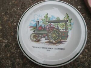 "VITRIFIED WARE BY WOOD & SONS  - ""WANTAGE"" STEAM ROAD LOCOMOTIVE 1904 PLATE"