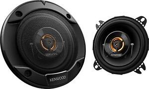 """Kenwood - Road Series 4"""" 2-Way Car Speakers with Cloth Cones (Pair) - Black"""