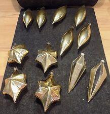 Set an Weihnachtskugeln /Zapfen in Gold 12 Teile