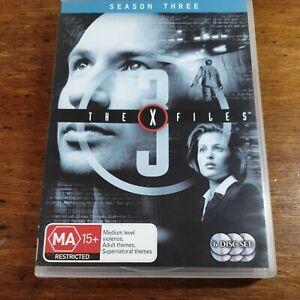 The X Files Season Three 3 DVD R4 Like New! FREE POST