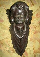 Rare Stunning German Carved Wall Mounted Angel Cherub Putto 1880'S