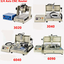 34 Axis Usbparallel 3040 Cnc Router Mill Drill Engraving Machine Vfd 400with800w