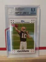 2007 Topps Exclusive Brady Quinn Rookie Card - #6 - Beckett  8.5 NM-MT