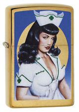 Zippo Lighter ● Bettie Page Olivia Nurse Sexy ● 60003936 ● Neu New OVP ● A108