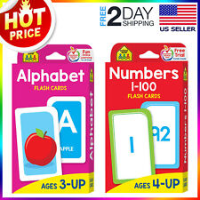 English Alphabet & Numbers 1-100 Flash Cards Toddlers Kids Preschool Early Learn