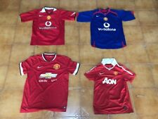 Manchester United 4 Shirts Football Jerseys Job Lot Vintage Retro Adult Sizes