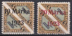 Estonia. 1923 Overprinted Air Issues. Perf 11.5. Mint. Rare.