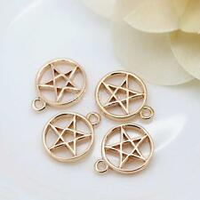 Fashion 24K Real Yellow Gold Plated Jewelry Pendant no Necklace Chain Pentagram