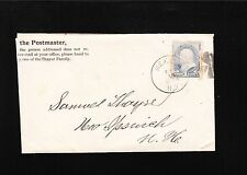 Mexico NY 1889 Postmaster Hand To Thayer Family Samuel New Ipswich NH Cover 7y