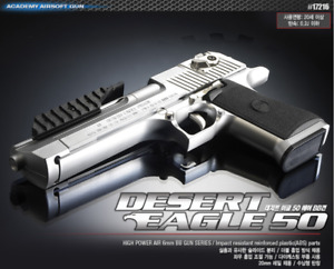 [ACADEMY] #17216 Desert Eagle 50 Silver AirsoftPistol BBGun 6mm ⭐Tracking⭐