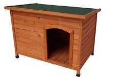 Medium Pet Dog Kennel House Timber Wooden Log Cabin Wood Indoor Outdoor
