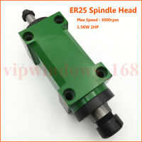 1.5KW 2HP Spindle Unit 5 Bearing ER25 Drilling Power Head Belt Drive 3000rpm
