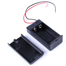 5PCS Practical 9V Battery Holder Box DC Case With Wire Lead ON/OFF Switch Cover