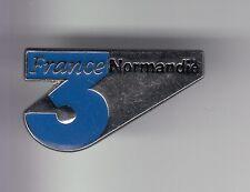 RARE PINS PIN'S .. TV RADIO PRESSE FR3 FRANCE 3 TELEVISION REGION NORMANDIE ~DE