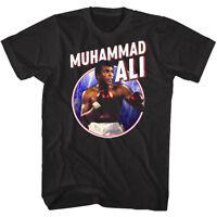 Muhammad Ali Faster Than Lightning Mens T Shirt Boxing Fighter Throw Thunder Top