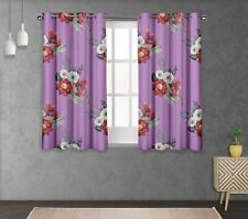 S4sassy Peony & Anemone Double Panel Window Treatment Curtain -FL-634H