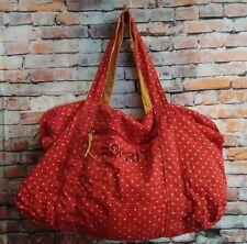 VTG LARGE ESPRIT Women's travel red strawberry CANVAS TOTE purse SHOULDER BAG