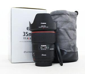 """Canon EF 35mm F1.4L II USM """" Mint"""" w/ Filter"""