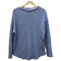 Old Navy Knit Sweater Women's S Heather Blue Mock Neck Long Sleeve Pullover