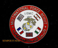 MULTINATIONAL FORCE BEIRUT HAT PIN US MARINES NAVY 24th MAU USS BLT 1/8 REAGAN