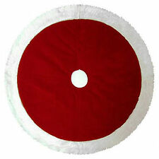 Classic Plush Traditional Red Christmas Tree Skirt / Extra-Large 48 Inches Size