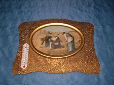 EARLIER 1900S WOMEN PICKING CROPS TEMPERATURE GAUGE WALL ART PICTURE
