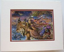 Flight of the Lynx by Josephine Wall Fantasy Abstract Double Matted To Fit 8x10