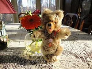 Antique Hermann German Zotty Bear Mohair 1960s Tag