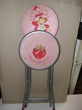 "Strawberry Shortcake FOLD OUT Seat Chair Child's Size 34"" Height when folded up"