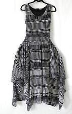 Diva Collection Dress Sleeveless Asymmetrical Hem Swing Chiffon Size 10