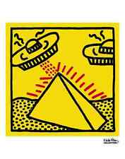 Untitled, 1984 (pyramid with UFOs) by Keith Haring Art Print Pop Poster 11x14