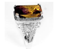 5.1 CT Multicolor Purple Topaz zircon 925 Sterling Silver ring  -#W6-104