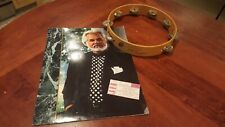 Kenny Rogers Signed 1991 Concert Tambourine, Signed Concert Book & Ticket Stub