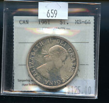 1961 Canada Silver Dollar ICCS Certified MS64 DCB122