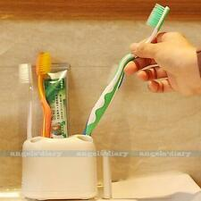 Toothbrush Holder Toothpaste Container Cup Tidy Bathroom Rack Free Stand