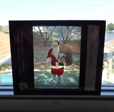 VINTAGE SANTA CLAUS GLASS PHOTOGRAPHIC SLIDE FROM KANSAS SCHOOLS