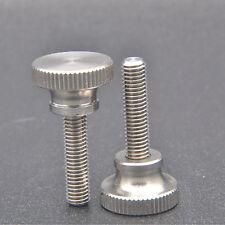 4pcs  M5 x 20mm Knurled Flat Head Thumb stainless steel Screw Bolts