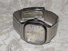 Men's Handsome Vintage DELMA of SWITZERLAND E5A Stainless Day Date Quartz Watch