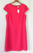 J.Crew Dress Pink A-Line Cap Sleeve Knee Length Cut-Out Fabric Size 12(Fits 10)