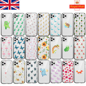 New Phone Case UK for iPhone 7/8/12/11/Pro/Max/XR/Samsung S20 Huawei Soft Cover