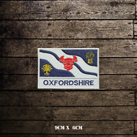 OXFORDSHIRE Flag With Name Embroidered Iron On Sew On Patch Badge