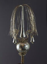 Antique wire wrapped glass tree topper   (# 10155)