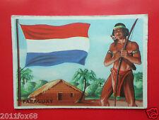 figurines cromos cards figurine sidam gli stati del mondo 86 paraguay flags flag