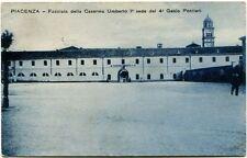 1929 Piacenza Facciata Caserma Umberto Genio Pontieri Ferrovia FP B/N VG ANIM