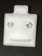 USA .68 tcw AAA NATURAL WHITE CAMBODIAN ZIRCON DIAMOND CUT 4x2mm 925 EARRINGS