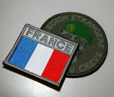 French Foreign Legion Légion étrangère velkrö 2-Patch Set: Green Beret + Flag