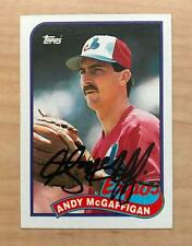 ANDY MCGAFFIGAN MONTREAL EXPOS SIGNED AUTOGRAPHED 1989 TOPPS CARD #278 W/COA