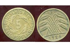 ALLEMAGNE 5  reichspfennig  1924 F   ( bis )